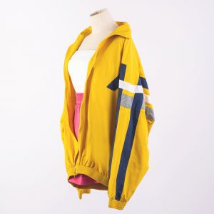 Balenciaga Striped Tech-Fabric Oversized Track Jacket