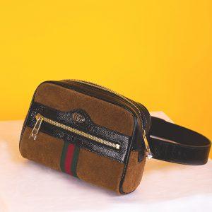 Ophidia GG suede belt bag