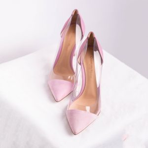 Plexi 85 suede and PVC pumps
