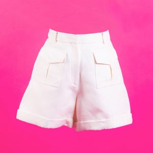 Valentino White Short Pants