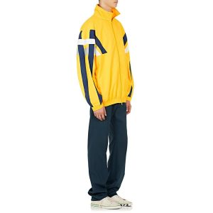 Balenciaga Striped Tech-Fabric Oversized Track Jacket