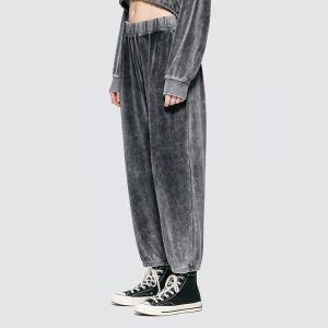 Velour Terry High Waist Sweatpants