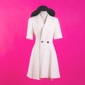 Short Sleeve Coat Dress