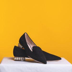 Women's Black Casati Pearl Loafers