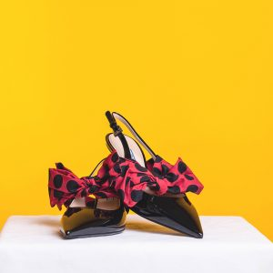 Bow Detailed Slingback Pumps