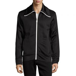 Funnel-Neck Jersey Jacket