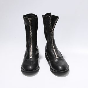Knee Font Zipped Boot
