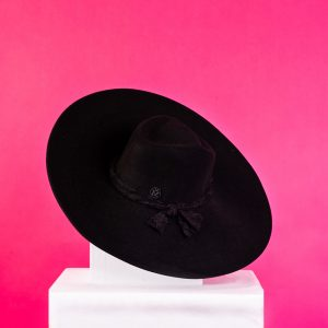 Maison Michel 'Rod' Rabbit Furfelt Canotier Hat