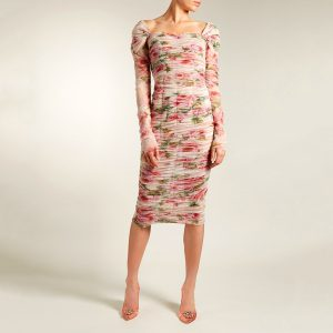 Dolce & Gabbana Floral Print Ruched Dress