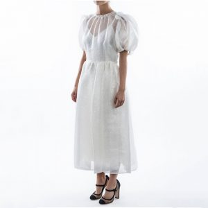Dolce & Gabbana Puff Sleeves Midi Dress