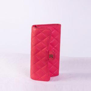 Chanel CC Gusset Classic Flap Wallet
