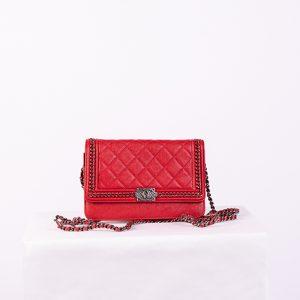 Chanel BOY Calfskin Wallet On Chain