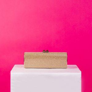 Jimmy Choo Metallic Charm Glitter Box Clutch