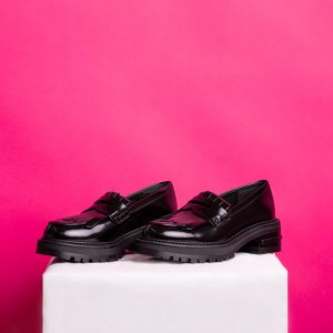 Dior Penny Loafer Fight Plateau Leather Bordeaux Foldover fringes