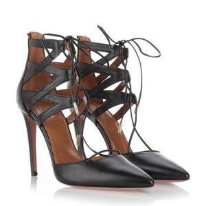 Aquazzura Belgravia Lace Up Pumps
