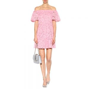 Valentino Lace Off Shoulder Dress