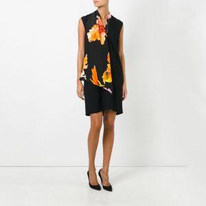 Lanvin Black Silk Sleeveless Dress
