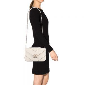 Chanel Large Chevron Flap Bag A93775