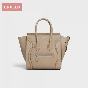 Celine Luggage Handbag in Drummed Calfskin