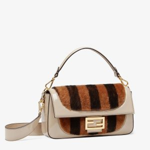 BAGUETTE- Multicolour, Patent Leather and Sheepskin Bag