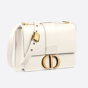 30 MONTAIGNE BAG Latte Box Calfskin