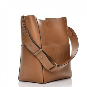 Sangle Bucket Bag in Natural Calfskin