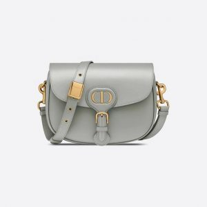 Medium Bobby Bag- Gray Box Calfskin