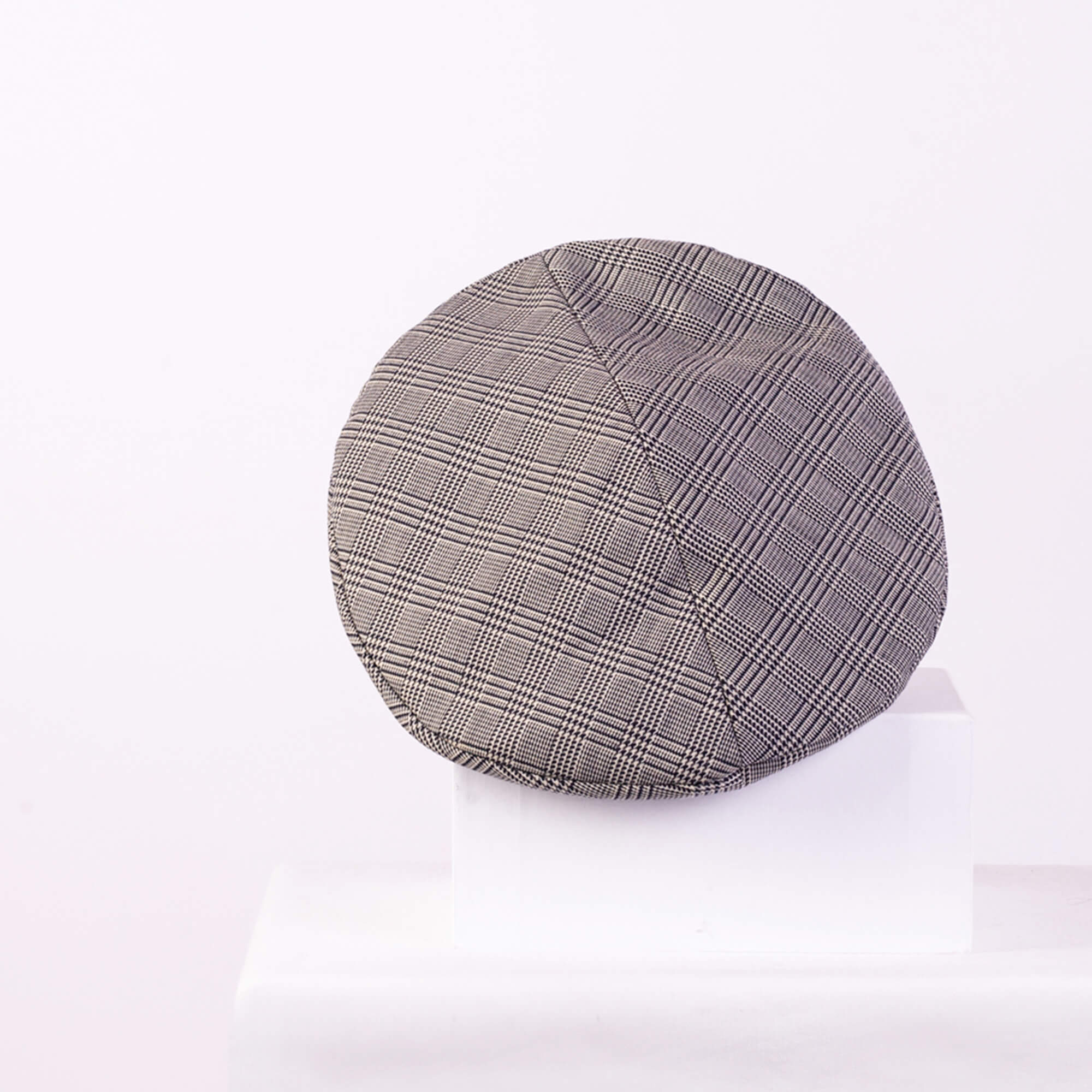 New Billy Prince Of Wales Checked Wool Blend Beret