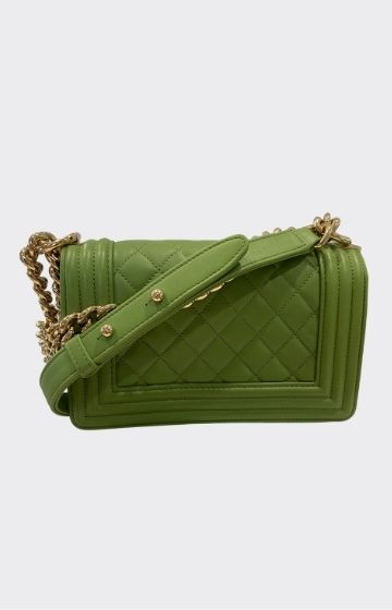 Chanel Small Boy Chanel Flap Bag Olive Green