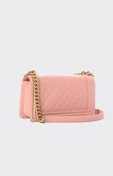 Chanel Caviar Quilted Medium Boy Flap Pink